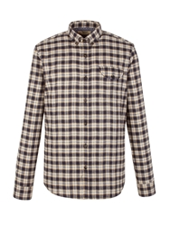 Check Tailored Fit Long Sleeve Shirt Mustard