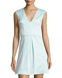 French Connection Classic Capri Sleeveless Fit And Flare Dress Fresh Aqua