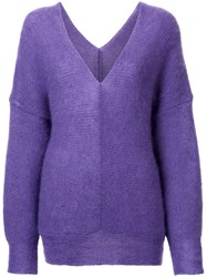 G.V.G.V. Off Shoulder Pullover Pink Purple