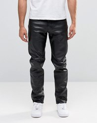 Weekday Sharp Leather Jeans 09 090 Black