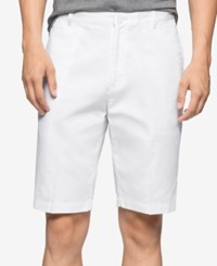 Calvin Klein Men's Corduroy Shorts White
