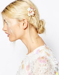 Asos Barrette Bow Body And Hair Corsage Clip Pink