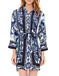 Gottex Legacy Shirt Dress Coverup Blue