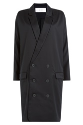 Julien David Wool Trench Coat Blue
