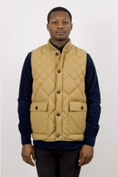 Ymc Down Quilted Waistcoat Camel Ideology Boutique