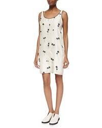Rag And Bone Natalie Sleeveless Palm Tree Print Dress Whitecap