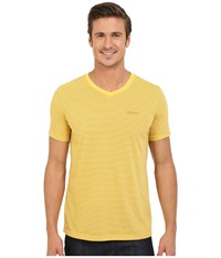 Marmot Salt Point V Neck Short Sleeve Tee Yellow Light Men's T Shirt