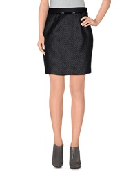 Atos Lombardini Mini Skirts Black
