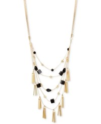 Inc International Concepts M. Haskell For Gold Tone Bead And Shaky Stick Multi Layer Necklace Only At Macy's