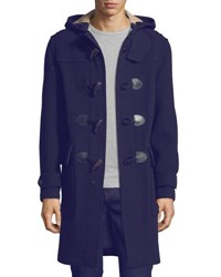 Burberry Brockhurst Long Duffle Coat Navy
