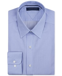 Tommy Hilfiger Big And Tall Easy Care Light Blue Fineline Stripe Dress Shirt