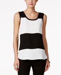 Nine West Colorblocked Sleeveless Top Lily Black