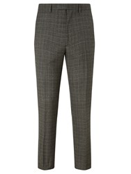 John Lewis Kin By Carter Check Slim Suit Trousers Black White