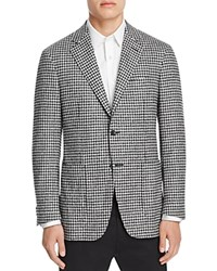 Canali Kei Check Classic Fit Sport Coat Black