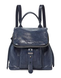 Botkier Warren Leather Backpack Midnight Blue