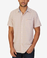Nautica Men's Classic Fit Short Sleeve Oxford Shirt Tigerlily