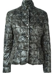 Fay Floral Puffer Jacket Green