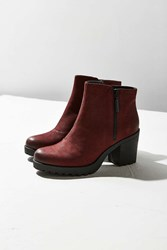 Vagabond Nubuck Grace Double Zip Ankle Boot Maroon