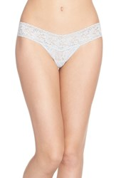 Women's Hanky Panky 'Signature Lace' Low Rise Thong Grey Pearl Grey