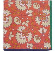 Penrose London Floral Dotterel Pocket Square Orange