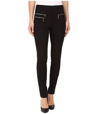 Ivanka Trump Compression Pants With Zipper Detail Black Women's Casual Pants