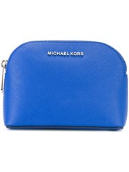 Michael Michael Kors Top Zip Pouch Blue