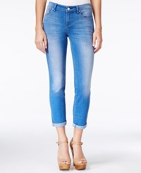 Jessica Simpson Forever Cropped Royal Wash Skinny Jeans Light Blue