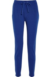 Lot 78 Knitted Track Pants Blue