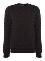 Duck And Cover Men's Crested Layer Insulated Crew Neck Sweat Black
