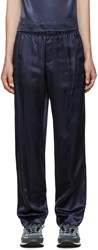 Opening Ceremony Navy Satin Twill Trousers