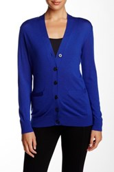 Marc By Marc Jacobs Superfine Merino Wool Cardigan Purple