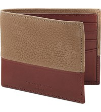 Aspinal Of London Shadow Billfold Leather Wallet Beige