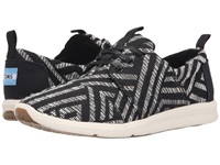 Toms Del Rey Sneaker Black Tribal Woven Women's Lace Up Casual Shoes