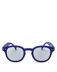 See Concept Letmesee Collection C Sunglasses 45Mm Navy Blue Solid Gray