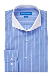 Vince Camuto Blue White Barber Slim Fit Shirt
