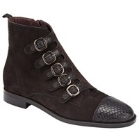 Alice By Temperley Somerset Prestleigh Buckle Ankle Boots Black