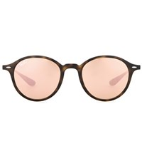 Ray Ban Rb4237 Mirrored Round Sunglasses Pink