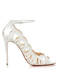 Christian Louboutin Houla Hot 85Mm Leather Sandals White