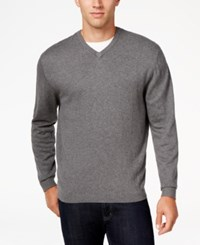 Weatherproof Vintage Men's Big And Tall V Neck Sweater Only At Macy's Graphite