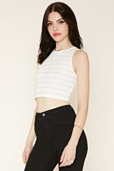 Forever 21 Boxy Eyelet Crop Top