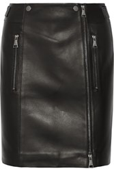Karl Lagerfeld Leather Mini Skirt Black