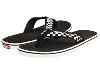 Vans La Costa Checkerboard White Black Men's Sandals