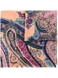 Etro Printed Scarf Pink And Purple