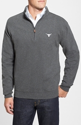 Peter Millar 'University Of Texas' Melange Fleece Charcoal