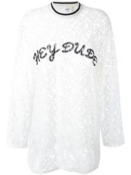 Steve J And Yoni P Lace Top White