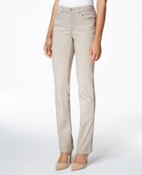 Charter Club Lexington Printed Straight Leg Jeans Only At Macy's Almond Latte Combo