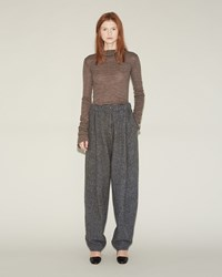 Acne Studios Selah Trousers Light Grey Melange