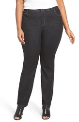 Eileen Fisher Plus Size Women's Stretch Denim Slim Leg Jeans Vintage Black