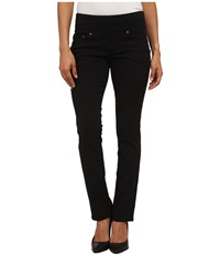 Jag Jeans Petite Peri Pull On Straight Twill Pants Black Women's Casual Pants