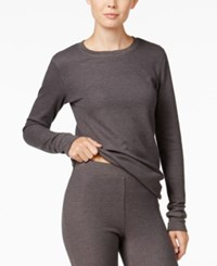 Cuddl Duds Long Sleeve Thermal Top Charcoal Heather